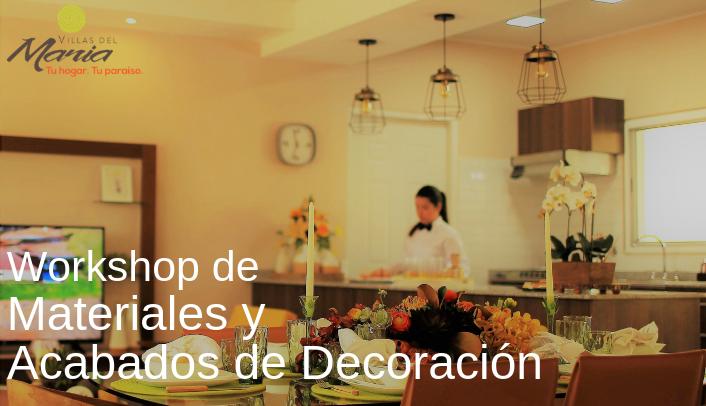 Workshop de Materiales y de Acabados de Decoración